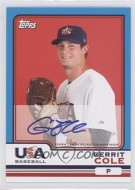 2010 Topps Chrome Team USA Autographs #USA-4 - Gerrit Cole
