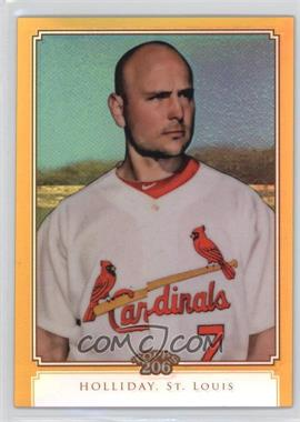 2010 Topps Chrome Topps 206 Chrome Gold Refractor #TC1 - Matt Holliday /50