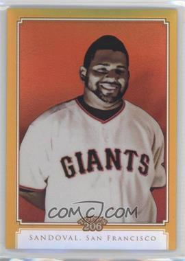 2010 Topps Chrome Topps 206 Chrome Gold Refractor #TC11 - Pablo Sandoval /50