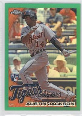 2010 Topps Chrome Wrapper Redemption [Base] Green Refractor #177 - Austin Jackson /599