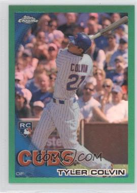 2010 Topps Chrome Wrapper Redemption [Base] Green Refractor #181 - Tyler Colvin /599