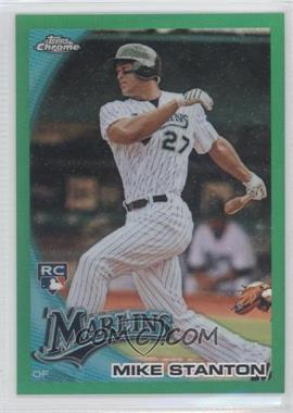 2010 Topps Chrome Wrapper Redemption [Base] Green Refractor #190 - Mike Stanton /599