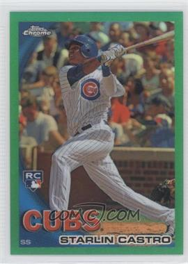 2010 Topps Chrome Wrapper Redemption [Base] Green Refractor #195 - Starlin Castro /599