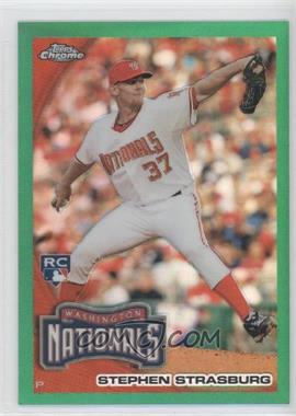 2010 Topps Chrome Wrapper Redemption [Base] Green Refractor #212 - Stephen Strasburg /599