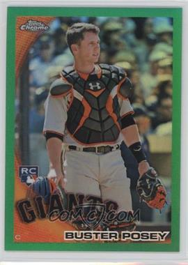 2010 Topps Chrome Wrapper Redemption [Base] Green Refractor #221 - Buster Posey /599