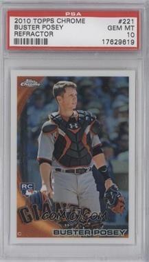 2010 Topps Chrome Wrapper Redemption [Base] Refractor #221 - Buster Posey [PSA 10]
