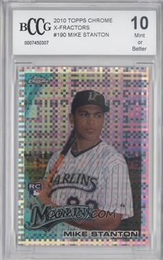 2010 Topps Chrome X-Fractor #190 - Giancarlo Stanton [ENCASED]