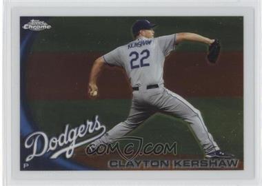 2010 Topps Chrome #3 - Clayton Kershaw