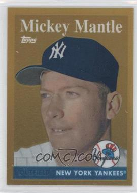 2010 Topps Factory Set Mickey Mantle Chrome Reprints Gold #1 - Mickey Mantle