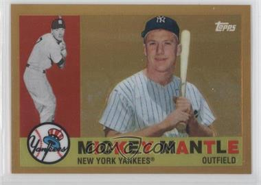 2010 Topps Factory Set Mickey Mantle Chrome Reprints Gold #3 - Mickey Mantle