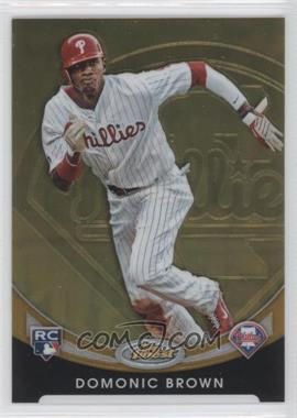 2010 Topps Finest - Rookie Redemption - Gold Refractor #FFR-9 - Domonic Brown /50