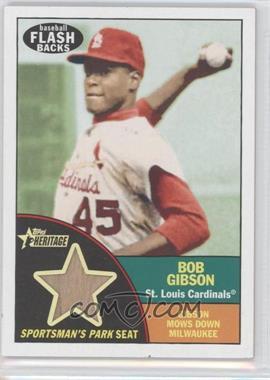 2010 Topps Heritage - Baseball Flashbacks Stadium Relics #FSR-BG - Bob Gibson