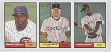 2010 Topps Heritage - Boxloader Ad Panel #N/A - Alfonso Soriano, Chris Iannetta, Dexter Fowler