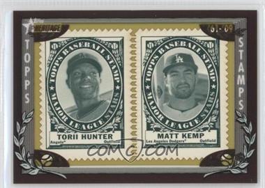 2010 Topps Heritage - Stamp Collection #THMK - Torii Hunter, Matt Kemp /50