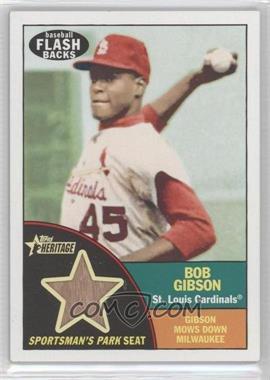 2010 Topps Heritage Baseball Flashbacks Stadium Relics #FSR-BG - Bob Gibson