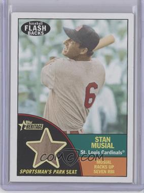 2010 Topps Heritage Baseball Flashbacks Stadium Relics #FSR-SM - Stan Musial