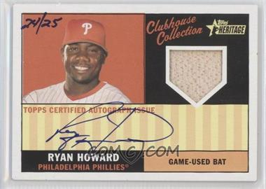 2010 Topps Heritage Clubhouse Collection Relic Autograph [Autographed] #CCAR-RH - Ryan Howard /25