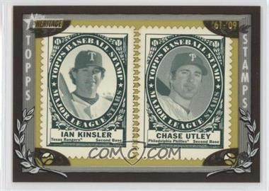 2010 Topps Heritage Stamp Collection #IKCU - Ian Kinsler, Chase Utley /50