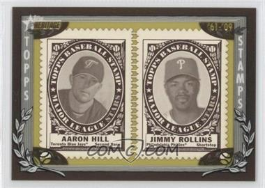2010 Topps Heritage Stamp Collection #N/A - Aaron Hill, Jimmy Rollins /50