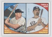 Adrian Gonzalez, Mickey Mantle