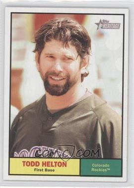 2010 Topps Heritage #364 - Todd Helton