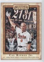 Ripken Breaks Gehrig's Consecutive Games-Played Streak (Cal Ripken Jr.)