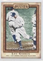 Lou Gehrig Replaces Wally Pipp