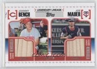 Johnny Bench, Joe Mauer /50