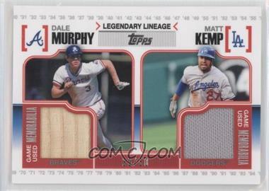 2010 Topps Legendary Lineage Dual Relics #LLR-MK - Dale Murphy, Matt Kemp /50