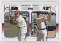 Buster Posey, Johnny Bench