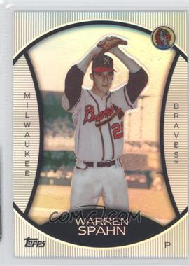 2010 Topps Legends Chrome Cereal Wal-Mart Platinum #PC4 - Warren Spahn