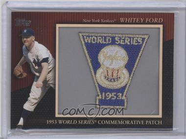 2010 Topps Manufactured Commemorative Patch #MCP118 - Whitey Ford