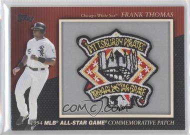 2010 Topps Manufactured Commemorative Patch #MCP33 - Frank Thomas