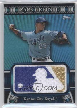 2010 Topps Manufactured Logoman Patches #LM-79 - Zack Greinke /50