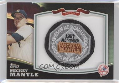 2010 Topps Mickey Mantle Manufactured Patch #HOFMM2 - Mickey Mantle