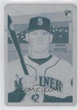 2010 Topps National Chicle - [Base] - Printing Plate Cyan #270 - Adam Moore /1