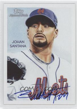2010 Topps National Chicle Artist Proof Artist Autograph [Autographed] #66 - Johan Santana /10