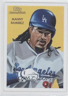 2010 Topps National Chicle Black Umbrella Logo Back #10 - Manny Ramirez /25