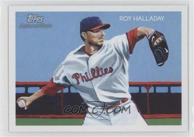 2010 Topps National Chicle Black Umbrella Logo Back #122 - Roy Halladay /25