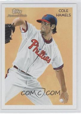 2010 Topps National Chicle Black Umbrella Logo Back #92 - Cole Hamels /25