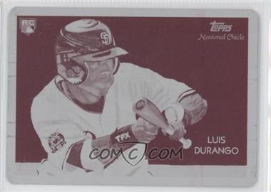 2010 Topps National Chicle Printing Plate Magenta #268 - Luis Durango /1