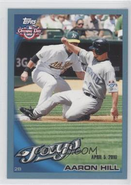 2010 Topps Opening Day Blue #180 - Aaron Hill /2010