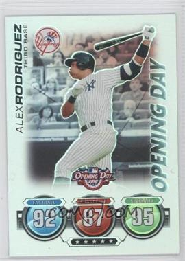 2010 Topps Opening Day Topps Attax #N/A - Alex Rodriguez