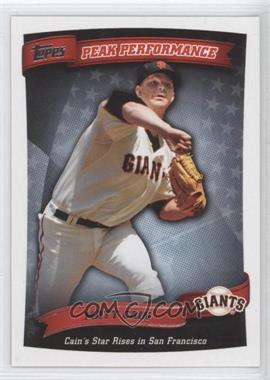 2010 Topps Peak Performance #PP-91 - Matt Cain