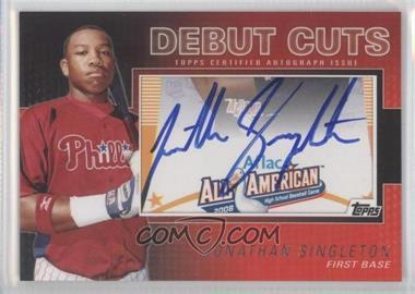 2010 Topps Pro Debut Debut Cuts Cut Autographs [Autographed] #DC-JS - Jonathan Singleton