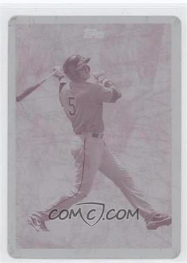 2010 Topps Pro Debut Future Foundations Printing Plate Magenta #FF12 - Alex Liddi /1