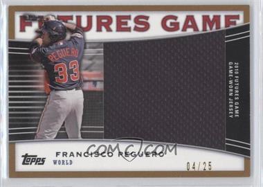 2010 Topps Pro Debut Futures Game Relics Gold #FGR-FP - Francisco Peguero /25