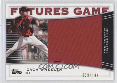 2010 Topps Pro Debut Futures Game Relics #FGR-ZW - Zach Wheeler /199