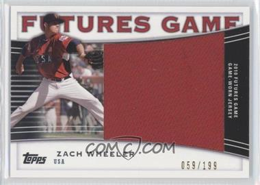 2010 Topps Pro Debut Futures Game Relics #FGR-ZW - Zack Wheeler /199