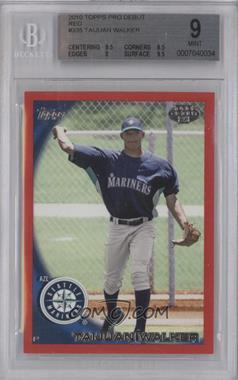 2010 Topps Pro Debut Red #335 - Taijuan Walker /1 [BGS 9]